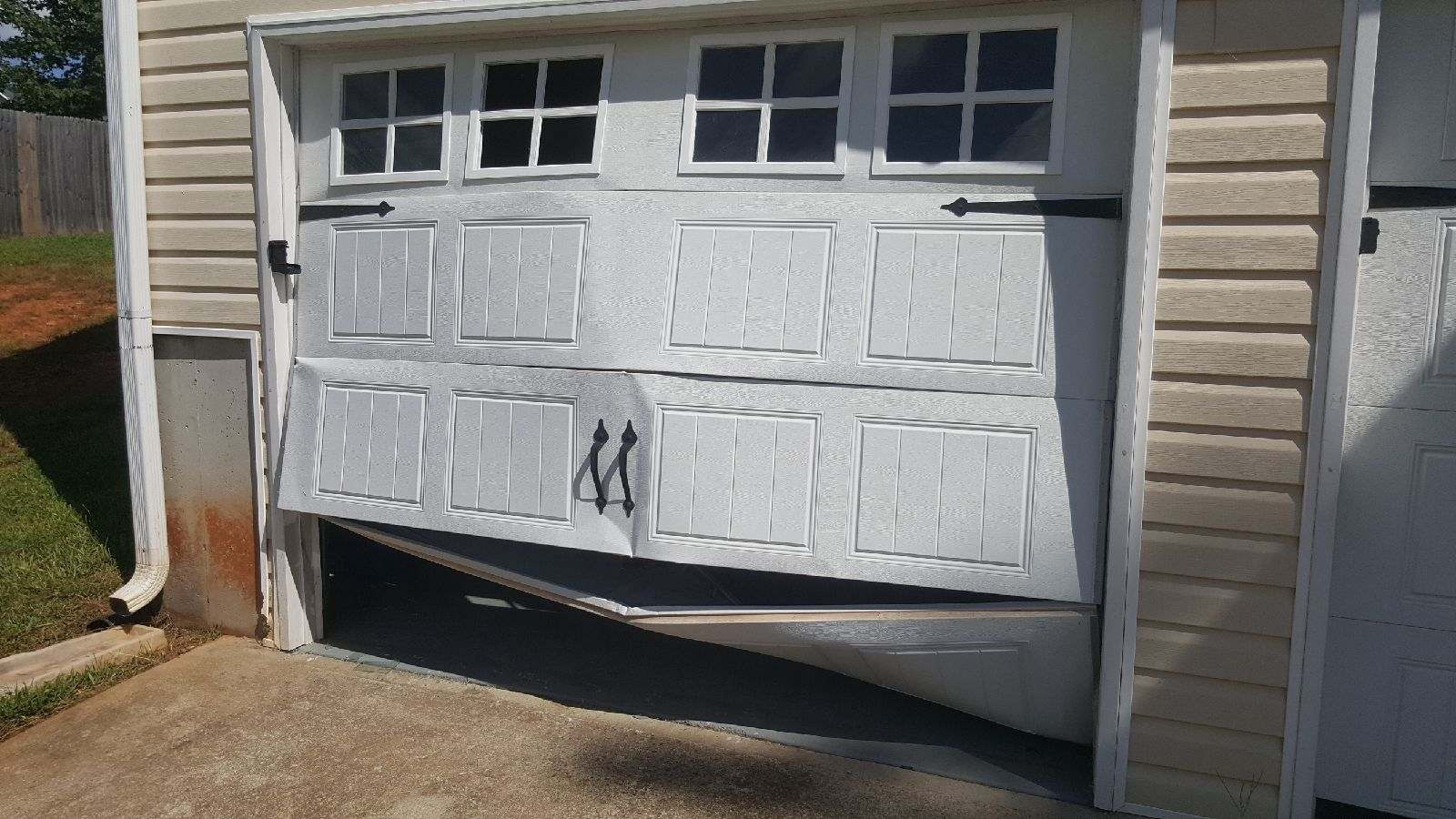 My Garage Door Was Backed Into